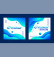giveaway and giveaway winners templates vector image vector image