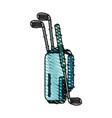 golf club bag icon imag vector image vector image