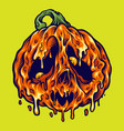 halloween melt pumpkins horror vector image vector image
