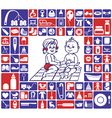 icons baby items vector image vector image