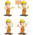 Industrial Construction Worker Mascot 4 vector image vector image