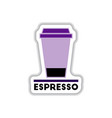 Label frames and badges icons coffee emblem cup