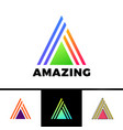 letter a enclosed in a triangle abstract logo in vector image vector image