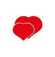 love is two hearts with love icons vector image