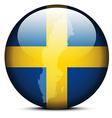 Map on flag button of Kingdom Sweden vector image vector image
