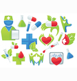 medicine and health-care symbols vector image vector image