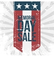 Memorial Day Sale Label on striped Background vector image