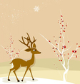 merry christmas with christmas deer vector image vector image