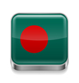 Metal icon of Bangladesh vector image vector image