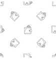 money wallet pattern seamless vector image