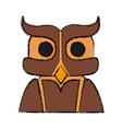 owl bird symbol vector image vector image