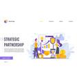 perspective strategic partnership flat design vector image