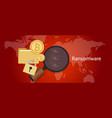 ransomware wannacry hacker malware concept lock vector image