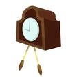 Retro wall clock icon cartoon style vector image vector image