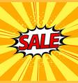 sale in pop art style vector image vector image
