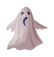 scary ghost happy halloween object cartoon style vector image