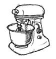 scribble series - foodmixer vector image vector image