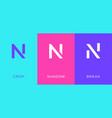 set letter n minimal logo icon design template vector image vector image
