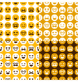 set of seamless pattern of happy smileys vector image vector image