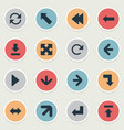 set simple pointer icons vector image