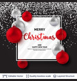 shiny christmas balls and text on dark background vector image vector image