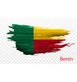 smear paint of flag benin on transparent vector image vector image