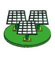 Solar panel cartoon draw vector image