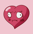 st valentines cartoon heart character emotions vector image vector image