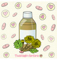 syrup and coltsfoot vector image