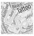 Tattoo Safety Word Cloud Concept vector image vector image