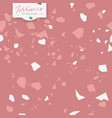 terrazzo seamless pattern pink girly colors vector image vector image