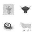 territory on the map bull s head cow eggs vector image vector image