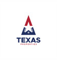 texas properties logo vector image