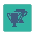 Trophy cups icon from Award Buttons OverColor Set vector image vector image