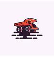 truck logo download vector image vector image