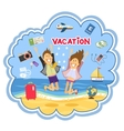 Vacation at the seaside vector image vector image
