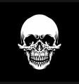 vintage skull monochrome emblem vector image vector image