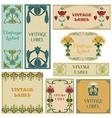 vintage style labels set vector image vector image