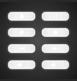white buttons control music vector image vector image