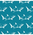 White sharks over blue seamless pattern vector image