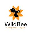wild bee logo vector image vector image