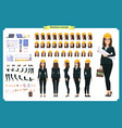 woman architect in business suit vector image vector image