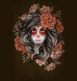woman with calavera makeup day dead vector image vector image