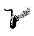 saxophone note music jazz instrument festival vector image