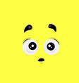 surprised face vector image