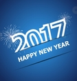 2017 Happy New Year on dark blue background vector image vector image
