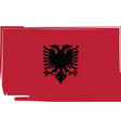 abstract albania flag or albanian banner vector image