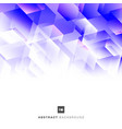 abstract blue and purple geometric hexagon mosaic vector image vector image