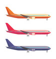 airplane in colored tail set with one motors art vector image vector image