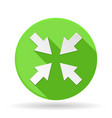 arrow icon green round sign with shadow center vector image